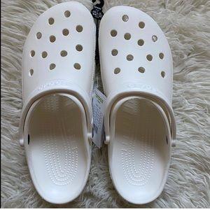 White Crocs Clogs NWT